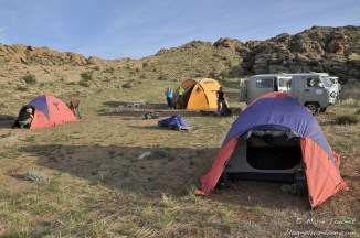 Mongolie: bivouac au mileu du granit.