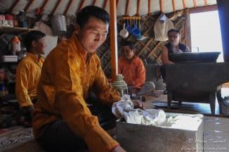 Mongolie : dans la yourte.