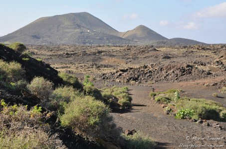 Lanzarote : vue au pied del Cuervo.