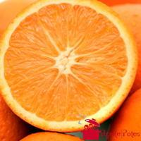Coeur d'orange coupée en deux