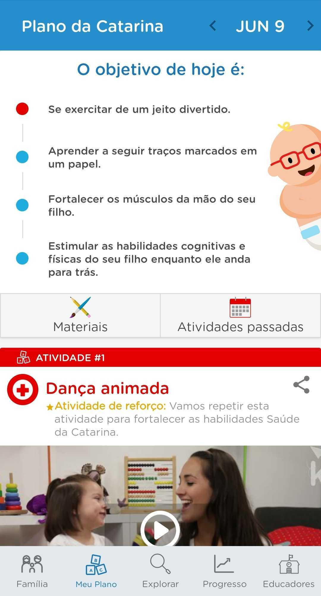 plano de atividades app pediatra