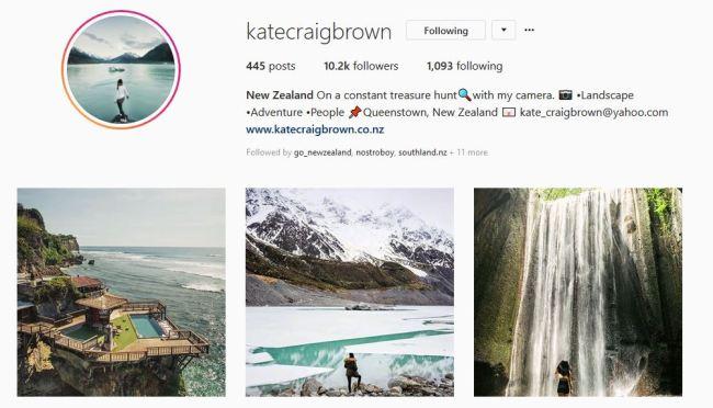 Top 10 des comptes instagram en Nouvelle-Zélande