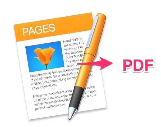 Macの無料文書作成ソフト「Pages」を使ってPDF形式に書き出す方法