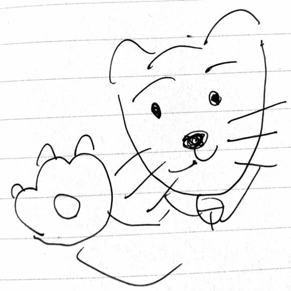 しなやんの書いた狩猫ちゃんのイラストの写真