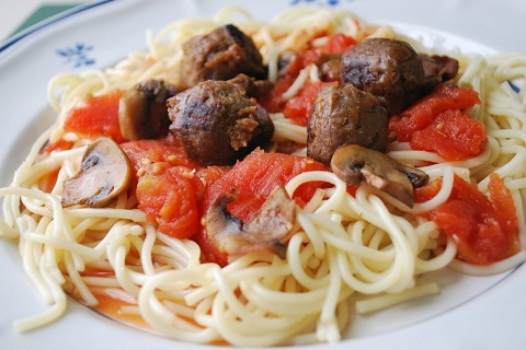 Special Spaghetti with Sauteed Mushrooms