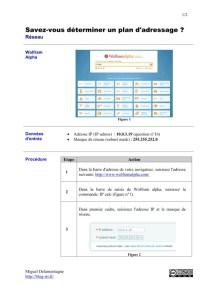 Réseau plan adressage IP