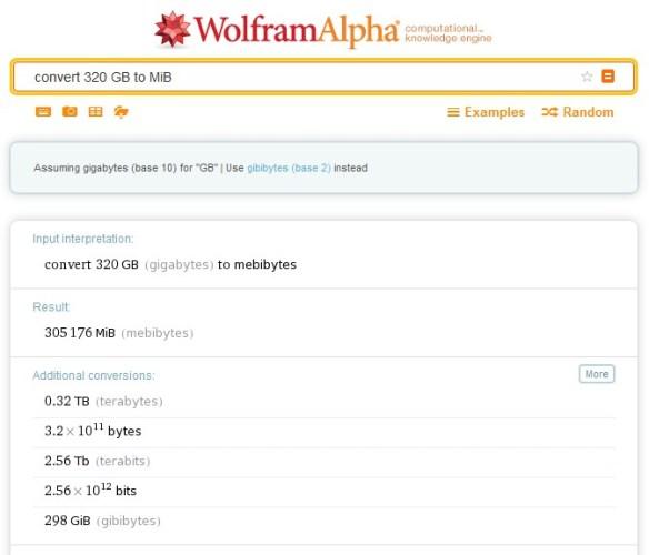 octet - wolfram alpha - exemple 2