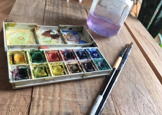 aquarelle format de poche pour les balade et les voyages