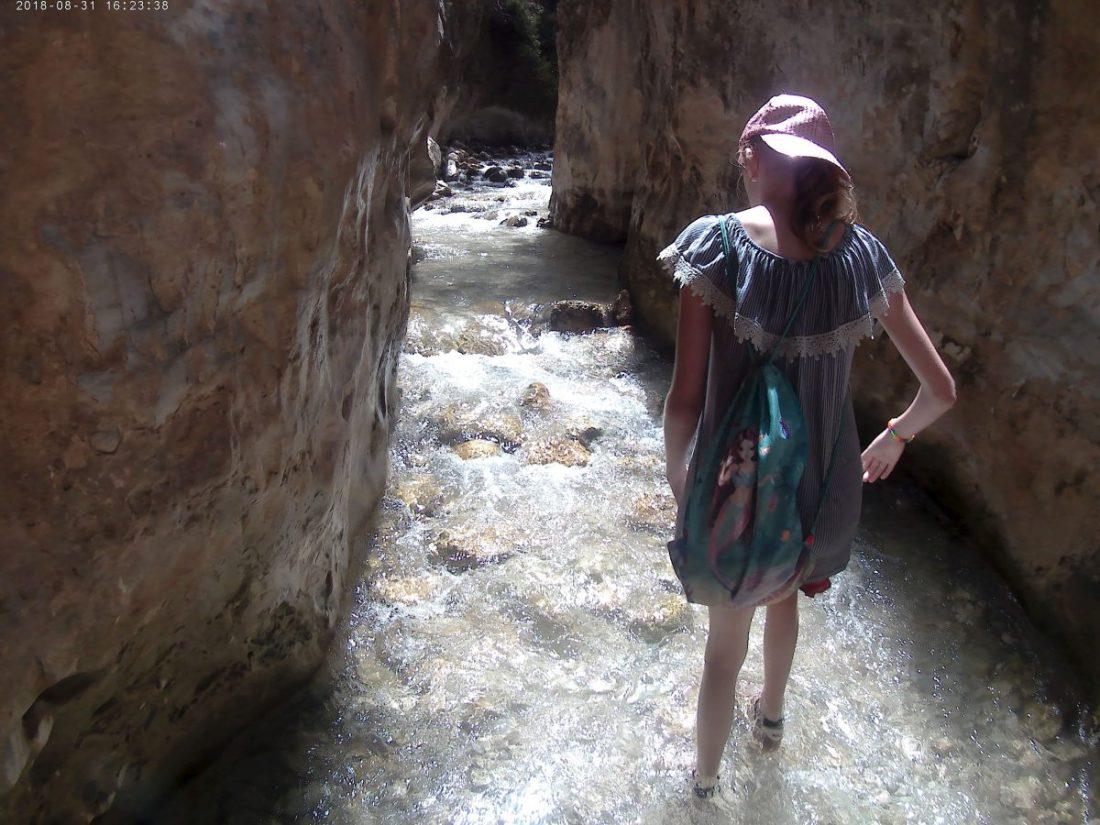 Strømmende vand ved Rio Chillar