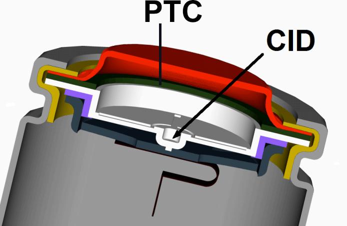 18650 CID PTC