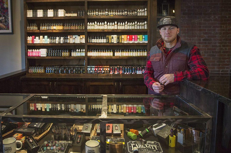 braquage Beau Maxon, gérant de la boutique Park City Vapor Company