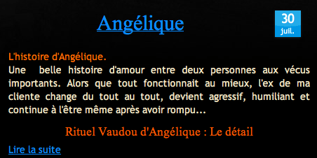 Cliquez et Découvrez le Témoignage d'Angélique
