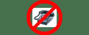 No phone call
