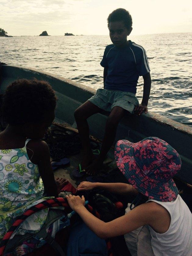 Fiji mit dem Taxi Boot