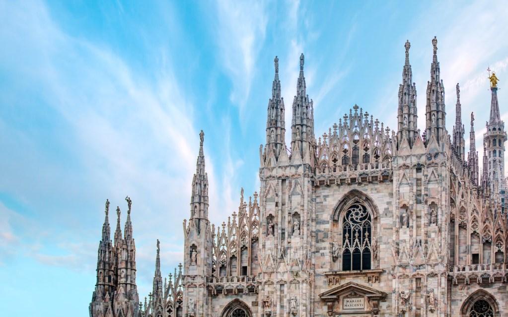 7 dias pela Itália. Piazza del Duomo, em Milão.