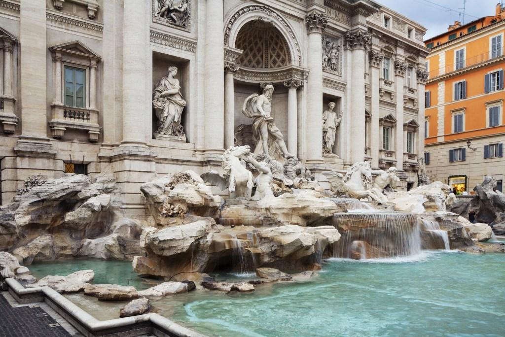 7 dias pela Itália. Fontana di Trevi.