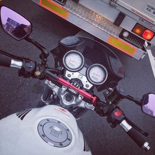 アブナイ、腕時計が映り込んでる(笑) #vtr #vtr250 #honda #ホンダ #motorcycle #バイク