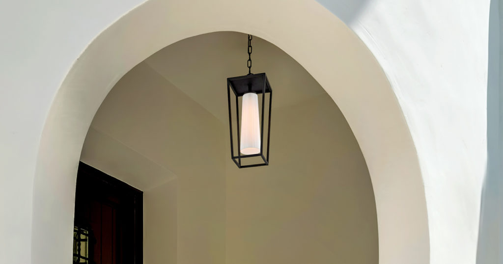 space in style with outdoor lighting