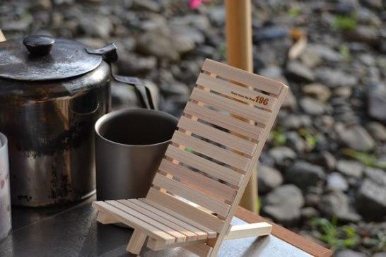 キャンプ 道具 木 スマホ iPhone スタンド チェアー