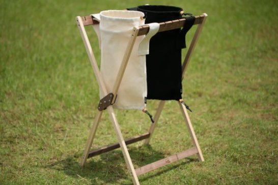 キャンプ ゴミ箱 オリジナル 196 木 ウッド