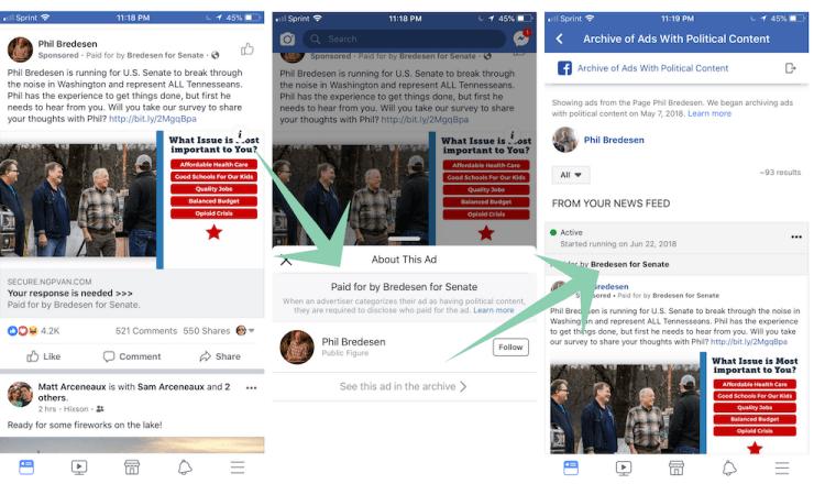 facebook ad disclosures