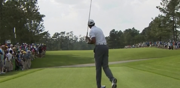 Tiger Woods Slice Tee Shot