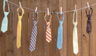 Laundry Line of Ties