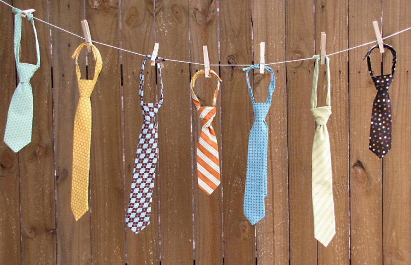 Laundry Line of Ties