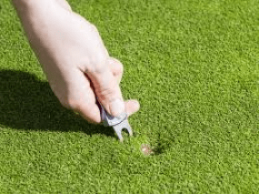 fixing a pitch mark