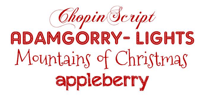 tresT Comunicación - Top10 tipografías navideñas