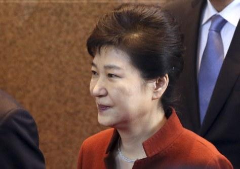 韓国の朴槿恵大統領=AP