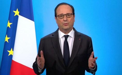 オランド大統領は1日のテレビ演説で、大統領選への不出馬を表明した=ロイター