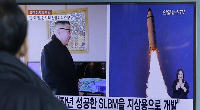 北朝鮮が弾道ミサイル4発発射 排他的経済水域に3発落下か