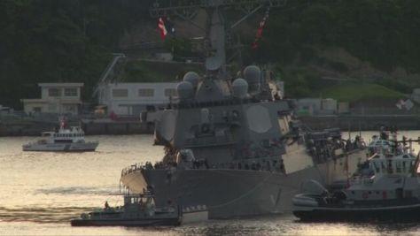 衝突したイージス駆逐艦の映像 米海軍が公開