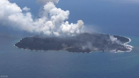 西之島 活発な噴火続く 今後も陸地拡大の可能性