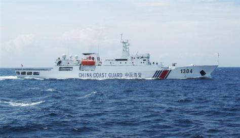 長崎・対馬と福岡・沖ノ島周辺の領海に一時侵入した中国海警局の船=15日(第7管区海上保安本部提供)