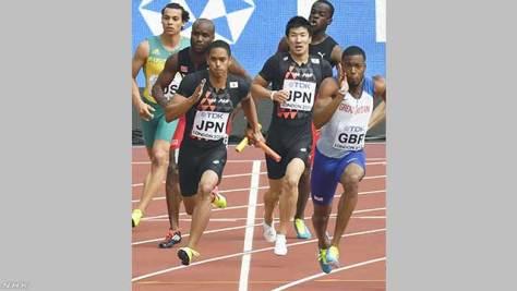 世界陸上男子400mリレー 日本が決勝進出