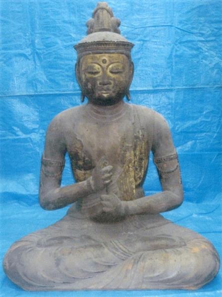 大阪府能勢町の今養寺で盗まれた国指定重要文化財の仏像「木造大日如来坐像」