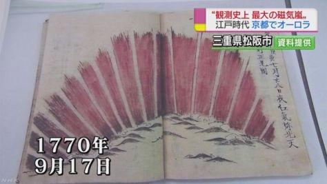江戸時代に磁気嵐でオーロラ 極地研など発表