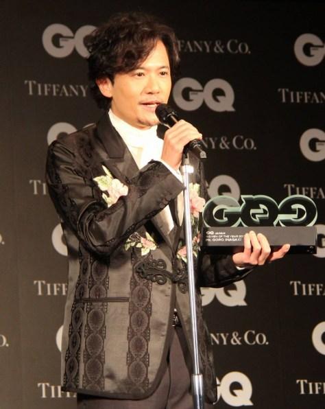 「GQ メン・オブ・ザ・イヤー2017」の授賞式に登場した稲垣吾郎さん