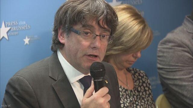 解任されたカタルーニャ州首相 ベルギーで職務続ける考え   NHKニュース