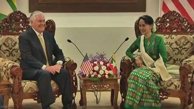 米国務長官 ロヒンギャへの人道支援強化を表明   NHKニュース