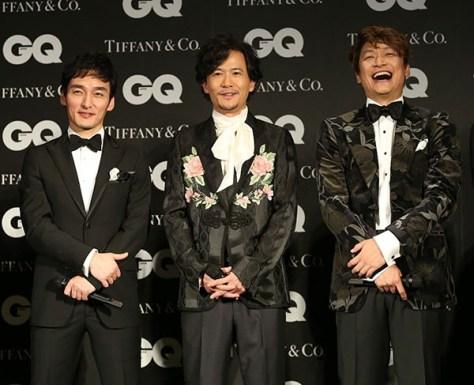 元SMAPの(左から)草なぎ剛、稲垣吾郎、香取慎吾