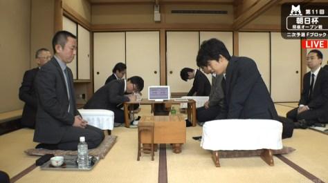 将棋・藤井聡太四段、公式戦でA級棋士初勝利!屋敷伸之九段を下す/朝日杯二次予選