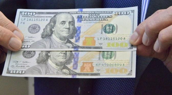 偽ドル札:鑑定機解析か 都内で100枚以上見つかる