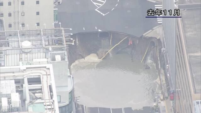 福岡の大規模陥没事故 地下鉄トンネル工事再開へ