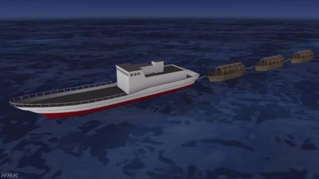 漂着相次ぐ木造漁船に「母船」の存在