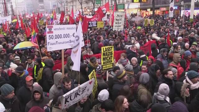 「ナチス思想の復活許すな」オーストリアで2万人が反政府デモ