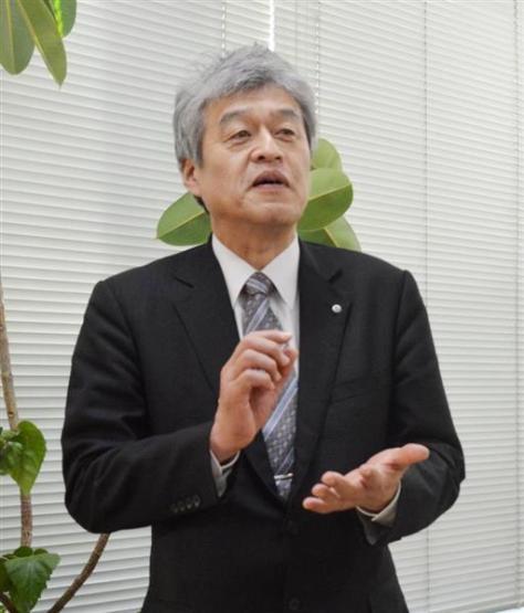 環境技術研究所の嶋田大和社長。本業の建設コンサルタントに加え、陸上養殖でもビジネスの可能性を生み出している(久保まりな撮影)