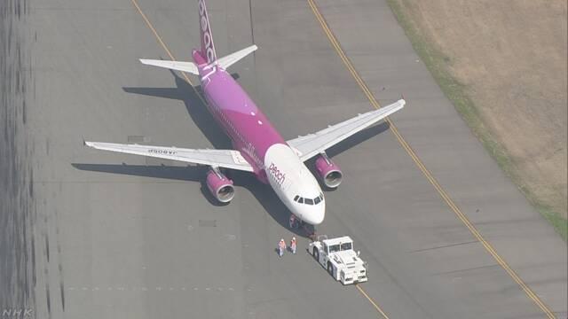 福岡空港 滑走路使用再開 旅客機タイヤパンクで約2時間半閉鎖